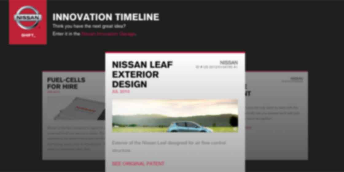 Interactive website design for Nissan